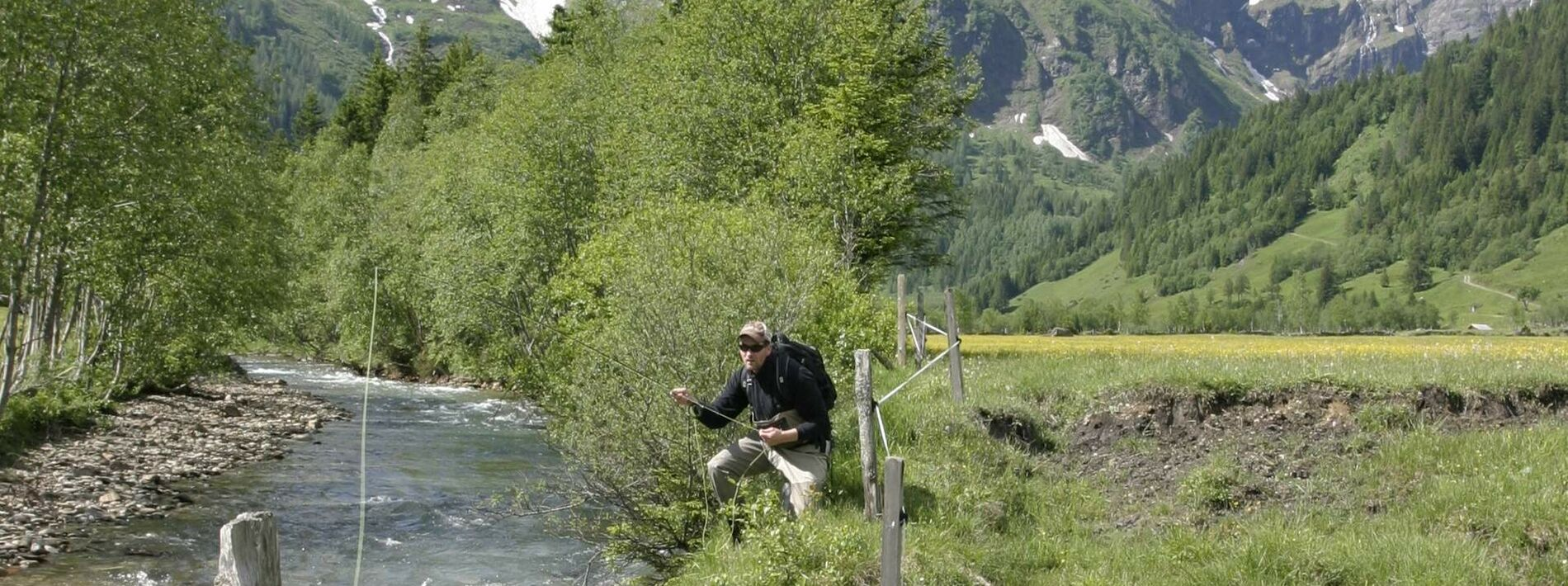 Fly fishing in the river of the